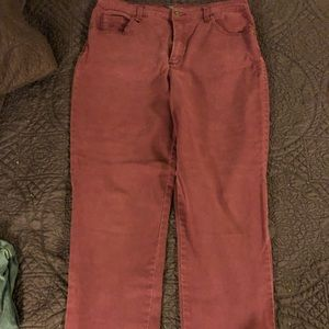 Gloria Vanderbilt Maroon Jeans size 14 PO